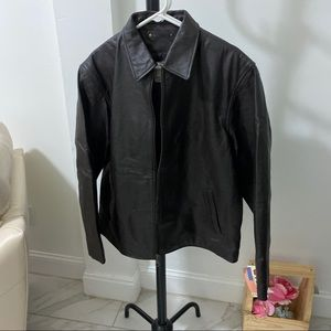 Vintage Wilda Leather Men Jacket. Size XL